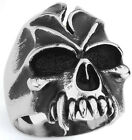 STAINLESS STEEL JAWLESS SKULL RING IN SIZES 10-14 R58
