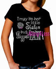Volleyball - Biggest Fan - HER Little Sister - Rhinestone on Kid's T-Shirt Top