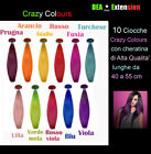 EXTENSION DA 10 CIOCCHE DI CAPELLI VERI CRAZY COLOURS CON CHERATINA TOP REMY