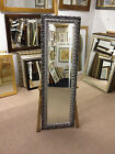 NEW ORNATE SILVER SHABBY CHIC STYLE LONG AND FULL LENGTH DRESSING MIRRORS