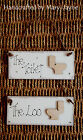 THE TOILET Wooden Door Plaque Decoration made with NEXT paint THE LOO Bathroom