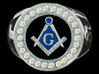 Mason Masonic PHA Square and Compass Surgical Steel Plated Ring SZ 9-13