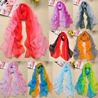 Fashion Women Girls Gradient Wrap lady Shawl Stole Silk Chiffon Scarf 19 Colors