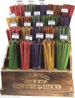 50 COLOURED INCENSE STICKS - VARIOUS SCENTS - FREE UK P&P -