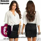 Women Sexy Minimalist Dress Dolman Sleeves Ivory Black Ultra Lightweight CR3