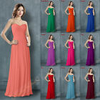 New Long Bridesmaid Dresses Prom Party Evening Formal Gowns Chiffon Size 6-26 ++