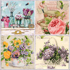 French Country Shabby Chic Flowers in Vases - gift decor picture plaque
