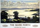The Silver Forth seen from Fife. Midlothian & West Lothian Vintage Travel Poster
