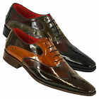 Jeffery West Muse Scarface Wingtip High Shine Shoes
