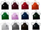 Full Size Bib Adult Aprons With Pockets - Poly Cotton Cloth 11 Colors USA Seller
