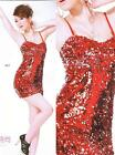 Sexy Ladies Cocktail Evening Party Night Club Bling Sequin Body Dress 6-12  0613