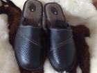 Mens Grey Sandals Mulle Flip Flop Leather Slippers Shoe Size 7 8 9 10 11 12 13