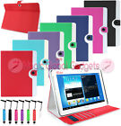 LUXURY RETRO DESIGN LEATHER WALLET BOOK CARD FLIP CASE COVER FOR VARIOUS TABLETS
