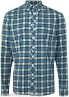 FRED PERRY Shirt Men's Brushed Cotton Tartan Check Red & Blue Size: X-Large