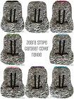 BRAND NEW Baby Toddler Kids Minky Car Seat Cover - ZEBRA PRINT