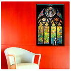 HUGE Canvas Banksy Graffiti Stained Glass Window art print poster gallery decor
