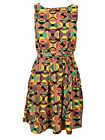 STUNNING EX DOROTHY PERKINS ABSTRACT MULTI PRINT DRESS - SIZES 10 - 14 RRP £35
