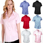 Ladies Short Sleeve Shirt Size XS - 5XL UK 8 to 24 Easy Care Tailored Fit NEW