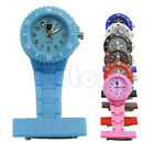 Unisex Style Nurse Watch With Pin Fob Brooch Pendant Hanging Pocket Fobwatch HOT