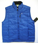 IZOD Mens Perform X Ratio Puffer Vest Blues XL 100% Polyester Wind Resistant NEW