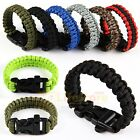 550lb Paracord Survival Weave Bracelet Buckle Cord Whistle Wristband Camping
