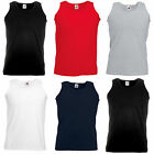 Fruit of the Loom x5 Sleeveless T shirt Vest Plain Printable Casual Bodytop**
