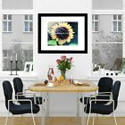 Bright Sunflower Matted Picture Home Wall Art Interior Room Decor A586