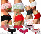 LADIES FRILLY KNICKERS SHORTS RUFFLE HOT PANTS WOMENS SEXY BURLESQUE BRIEFS 8-16