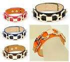 Women Genuine Real Leather Bracelet Designer Cuff Wrist Ware Bangle Wristband