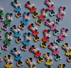 5 MINNIE MOUSE shaped wooden Buttons (38x 16mm)- Perfect for crafts and sewing!