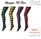 Opaque 70D Gingham Checked Tights (One Size fit up to hip107cm)