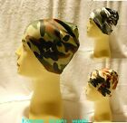 Camouflage  camo BIKER football sports helmet head liner spandex Dome Beanie Cap
