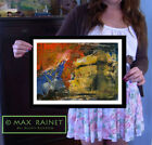 Breaking Through Storm ORIGINAL PAINTING Abstract SIGNED Fine Art PRINT ship bow