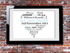 Personalised Newborn Baby Boy Typography Picture Print Gift Canvas Wall Word Art