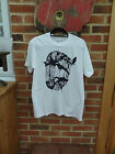 SOURCED CLOTHING MENS T-SHIRT, MED & LG, WHITE & GREY,  RRP £18 BNWT, FREE P&P