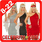 Ladies 20s 1920s Charleston Gatsby Girl Flapper Burlesque Fancy Dress Costume