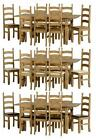 Corona Extending Pine Cream Expresso Brown Kitchen Dining Table Eight Chair Sets