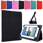 """A Unisex Universal Stand Adjustable Bicast Leather Folio Case fits 7"""" Tablets"""