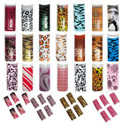 70pcs Pre-Designed False French UV Gel Artificial Nail Tips 10 Sizes NEW Various