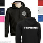 Firefighter Sweatshirt  Fire Department  Hoodie - Two Sides Print SIZES S-3XL