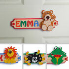 Personalised Wooden Letters Name Plaque Door Sign - TEDDY BEAR