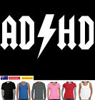 AD/HD Funny T-Shirts ac/dc Women's Men's Ladies Singlet New top size  tee hobo