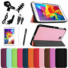 "Slim Case Magnetic Stand Cover for Samsung Galaxy Tab 4 7.0 7"" T230 +Accessories"