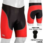 Mens Cycling Shorts Tights MTB Bike Bicycle  Hi-Density Padded Red S, M, L, XL