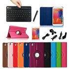 """Rotating Leather Case Cover for Samsung Galaxy Tab Pro 8.4"""" + Bluetooth Keyboard"""