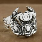 Wing Motorcycle Engine 925 Sterling Silver Mens Biker Ring 8S001 US Size 8~13.25