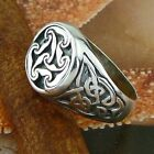 STERLING SILVER NO STONES CELTIC KNOTS RING SOLID.925 /NEW  JEWELRY SIZE 5-12