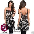 Womens Sexy Floral Abstract Sheer Tunic Top Everyday Casual Look  M24 S M L