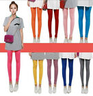 Girls Colorful Cute Trendy Candy Color Pencil Tight Pants Fit Skinny Stretch