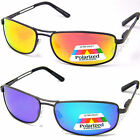 New Eyelevel UV400 Polarized Fishing Sunglasses Orange Blue Mirror Metal Sports